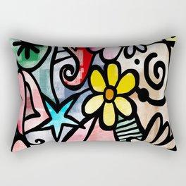 Abstract Doodle Rectangular Pillow