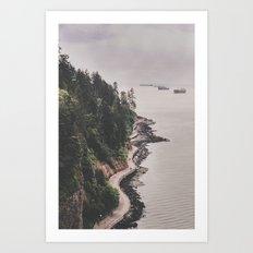 Vancouver Seawall Art Print