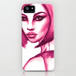 Pink hair  iPhone Case