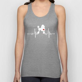 Poodle dog heartbeat Unisex Tank Top
