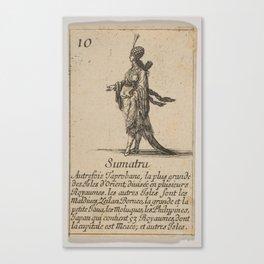 Game of Geography - Sumatra (Stefano della Bella, 1644) Canvas Print