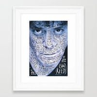 lou reed Framed Art Prints featuring Lou Reed Poster by Sagmeister & Walsh