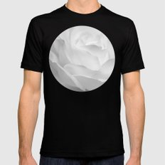 rose infrared SMALL Black Mens Fitted Tee