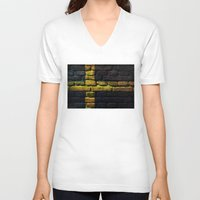 sweden V-neck T-shirts featuring Sweden by Nicklas Gustafsson