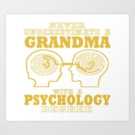 Psychology Grandma Art Print