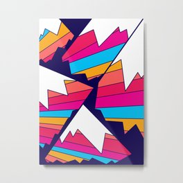 Mountains of many colours Metal Print