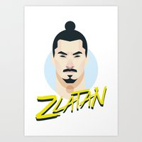 zlatan Art Prints featuring I Am Zlatan by Capo Castillon