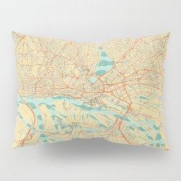 Hamburg Map Retro Pillow Sham