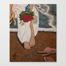 Beautiful Feet Canvas Print