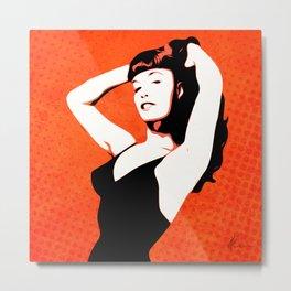 Bettie - Pin-up - Pop Art Metal Print