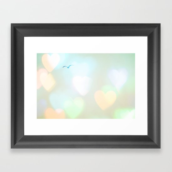 Sky Of Hearts Framed Art Print
