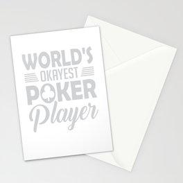 World's Okayest Poker Player Stationery Cards