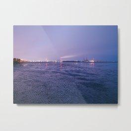 Low Tide, Ringsend, Dublin. Metal Print