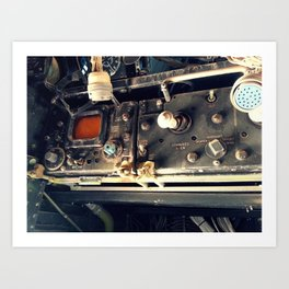 Boneyard E-1 Operator Panel Art Print