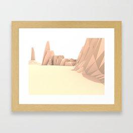 Desert Valley Framed Art Print