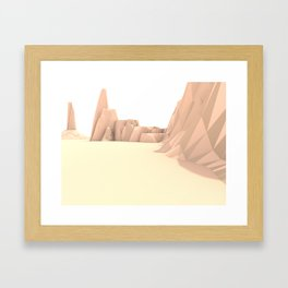 Desert Valley Framed Art Print