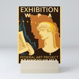 Federal Art Pennsylvania retro ad Mini Art Print