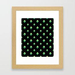 Emerald Diamonds Framed Art Print