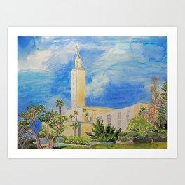 Los Angeles California LDS Temple Art Print
