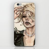 kate moss iPhone & iPod Skins featuring Kate Moss by vooce & kat