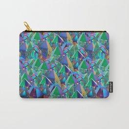 Crystal Shards in Oil Slick Rainbow Aura Carry-All Pouch