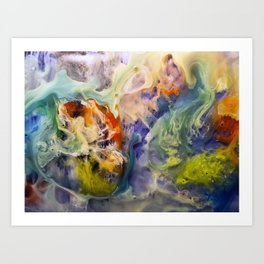 Heart Watercolor Abstract Painting Art Print