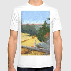 Where Falcons Fly White MEDIUM Mens Fitted Tee