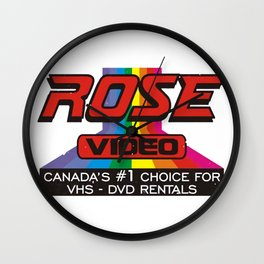 ROSE VIDEO Canada's #1 Choice for Vhs-Dvd Rentals Wall Clock