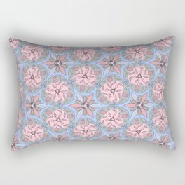 Pattern blue gray color Rectangular Pillow