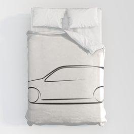 Clio silhouette Duvet Cover