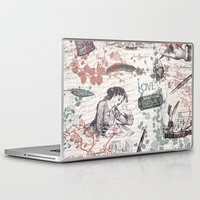 letters Laptop & iPad Skins featuring Love Letters by Paula Belle Flores