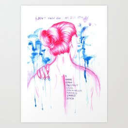 I DON'T KNOW WHO I AM - Equilibrium Art Print