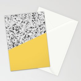 Granite and Primrose Yellow Color Stationery Cards