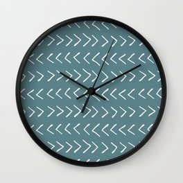 Arrows on Horizon Blue Wall Clock