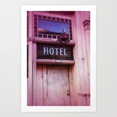 Pink Hotel Art Print