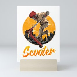 Scooter Obsessed Scootering Lover Mini Art Print