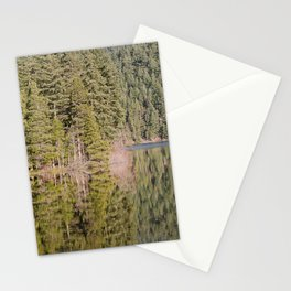 FOREST REFLECTIONS ON A MOUNTAIN LAKE Stationery Cards