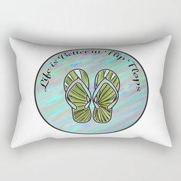 Life is Better in Flip Flops Graphic Design Rectangular Pillow