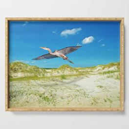 Great Blue Heron on Cumberland Island Serving Tray