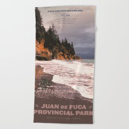 Juan de Fuca Provincial Park Beach Towel