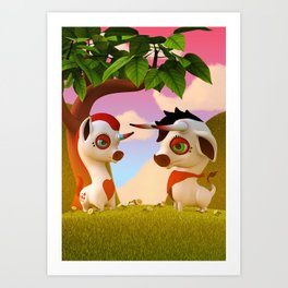 The Brave and the Myth Art Print