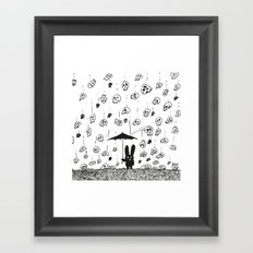 I'm only happy when it rains (skulls) Framed Art Print