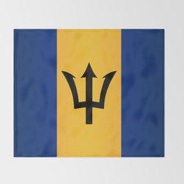Barbados Flag Throw Blanket