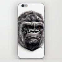 gorilla iPhone & iPod Skins featuring Gorilla by Creadoorm