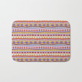 Stripey-Sunset Colors Bath Mat