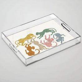 Rainbow Cheetah Acrylic Tray