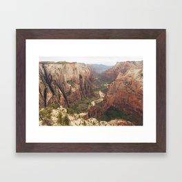 Observation Point Zion Framed Art Print