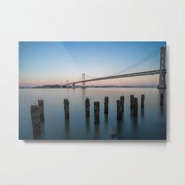 Bay Bridge Long Exposure  Metal Print
