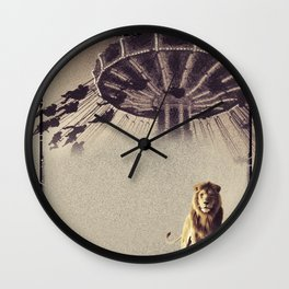 Luna Park Lion Wall Clock