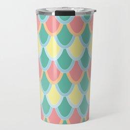 Mermaid Scales - pastel colors Travel Mug